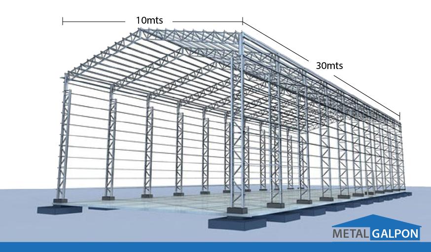 Fabricacion de estructuras met licas y galpones metalicos for Construccion de galpones